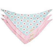3Pcs Practical Cotton Triangular Babies Bibs Set - Blue + Chrysanthemum