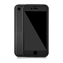Waterproof Phone Cases For iPhone 8 plus Thin Shockproof Hybrid Rubber Soft Silicon TPU Touch Swimming Case Back Cover for iphone 8 plus - Black