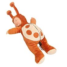 12'' Newborn Sleeping Soft Silicone Viny Reborn Baby Ladybird Lifelike Doll Gift