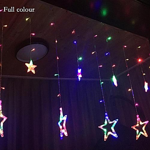 Star Curtain Lights With 12 Stars 138pcs Waterproof Linkable LED Great Decoration