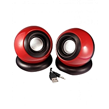 Multimedia Speakers - 2.0 USB - Red