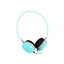 W3 Stereo Wired 3.5MM Headset Headphones - Blue