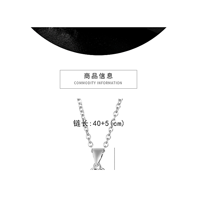 Rotating Lucky Grass Necklace Female S925 Silver Zircon Clavicle Chain Jewelry Box Birthday Gift For