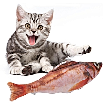 Pet Kitten Toy Catmint Stuffed Simulation Fish For Cat Chewing Playing(Red Rockfish)