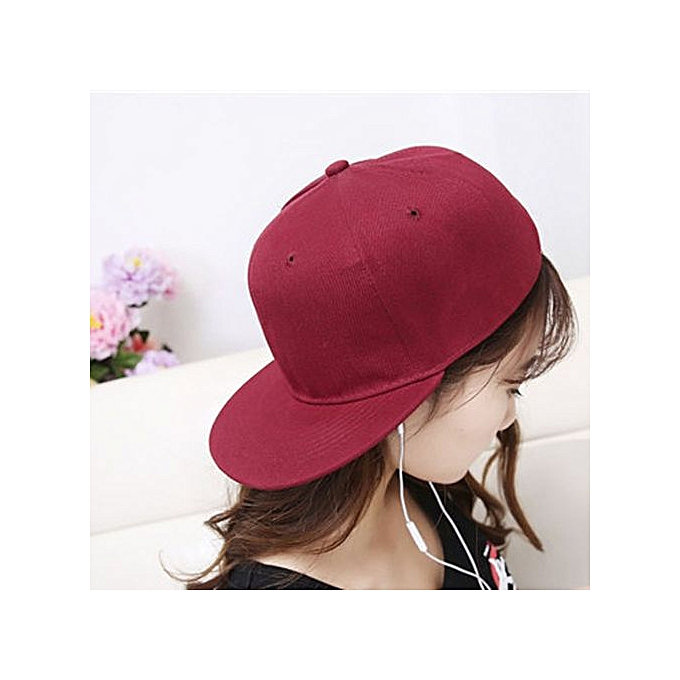 Zetenis Fashion Women Men Adjustable Baseball Cap Solid Snapback Hat  Hip-Hop Cap Shade- 18d17004cff