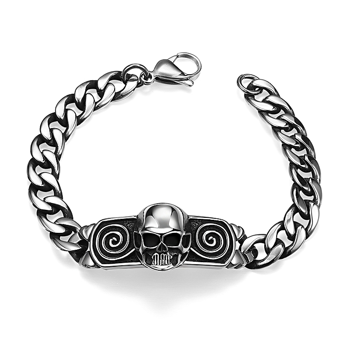skull man bracelet stainless steel buy fashion generic pattern