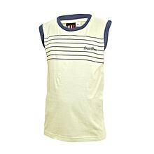 Green Sleeveless Boys T-Shirt