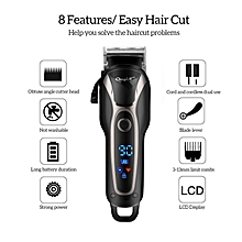 Rechargeable Electric Hair Clipper Hair Trimmer Haircut With LCD Display For Children Adults