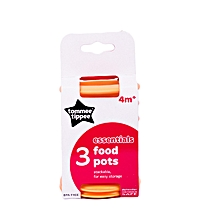 3 Food Pots with Lids