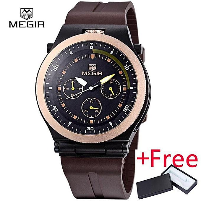 e382ccfee93c Megir New Fashion Luminous Men s Watch Jam Tangan es Casual Analog Quartz  Brand Watch Jam Tangan