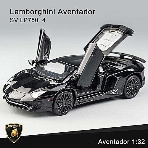 Grace Lamborghini Aventador SV LP750 4 Pull Back Toy Cars 1:32 Scale Alloy