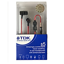TDK S5 Stereo hands free earphones with mic