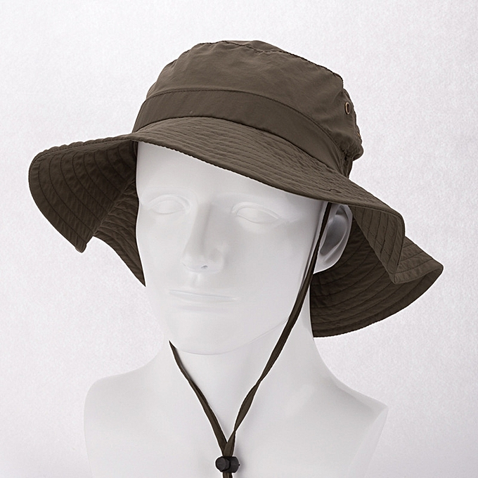 Quick Dry Long Wide Brim Bucket Hat Men Women Summer UV Protection Hiking  Fishing Outdoor Sun Hat - army green b4b2eaf4c9a