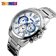 Suitable SKMEI Men Fashion Casual Watches Complete Calendar Quartz Wristwatches 50M Waterproof Stainless Steel Business Watch Male Clock