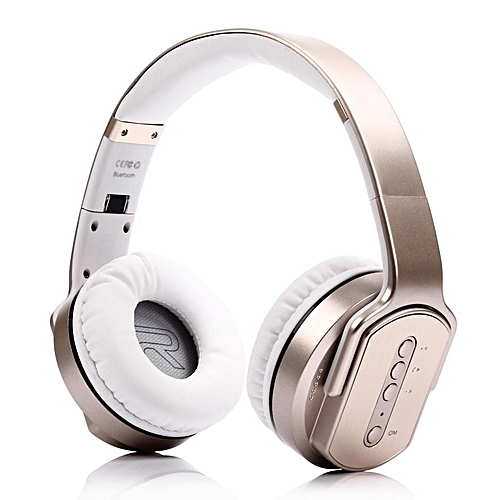 f3d6a13b0b4 Generic Headphones, MH2 Wireless Bluetooth Headphone earphones Twist-out  Speaker Bluetooth 2 in 1 Headset NFC TF card Aux-in Hands-free for  Phone(Gold)