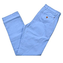 Mens Khaki Chinos Dress Pants Casual Work Trouser Slim Fit Not Relaxed Straight Classic Fit Soft Khaki sky Blue
