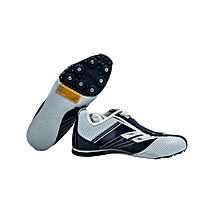 Spike Shoes Track Jnr Wht/Navy- 03432-A93white/Navy/Silver- 4