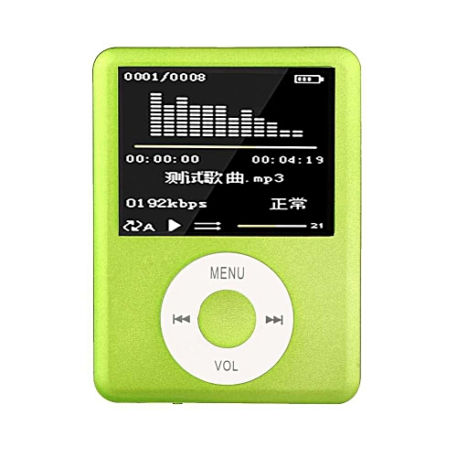 1 8 inch LCD Screen MP3 MP4 Music Player Metal Housing MP4 Player Support  E-Book Reading FM Radio (Green) DNSHOP