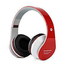 B-01 Stereo Bluetooth Headphone Support TF Card FM Radio with Microphone Red