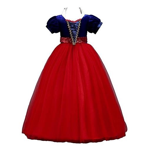 0aed928316dc7 Holloween Baby Girls Dress Princess Performing Dress Princess Baby Party  Dress red 130CM