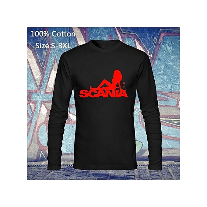 b99ce740ba14 Fashion Design Scania Sexy Girl Devil Printed Long Sleeve T-shirt Short Sleeve  Casual Basic