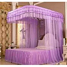 Mosquito Net 6x6  + 2 Stands with RAILS - Purple