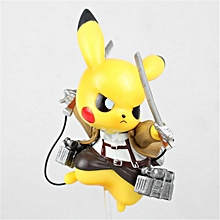 Pocket Monster Pikachu Attack on Titan Cosplay Action Figure Collection PVC Toy
