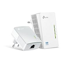 300Mbps AV600 Wi-Fi Powerline Extender Starter Kit TL-WPA4220KIT
