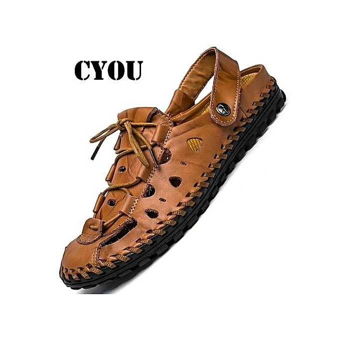 2f820b9e27a Moven 2018 New Arrivals Summer Sandals Men Fashion Designers BeachShoes  Brand Leather Slippers For Men Sandal