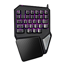 Delux T9 Pro Wired Gaming Keypad 30 Keys One-handed Membrane Keyboard - BLACK