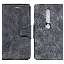 Nokia 6.1 Plus Case,Retro PU Leather Magnetic Flip [Cards Slot & Stand] Anti-Scratch Durable Wallet Protective Cover for Nokia 6.1 Plus (Nokia X6) 5.8""