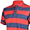 Red and Deep Blue Striped Mens Pure Cotton Polo T-Shirt