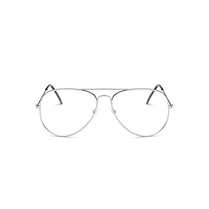 ... Men Women Clear Lens Glasses Metal Spectacle Frame Myopia Eyeglasses  Lunette Fe ... f426e7fde317