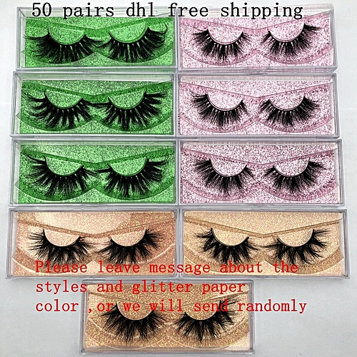 8b42cba56ab Generic Wholesale Free UPS DHL 50 pairs Mikiwi Eyelashes 3D 5D Mink Lashes  Handmade Dramatic Lashes 80 styles custom logo label lashes(C 0.15mm)