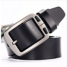 Mens Leather Vintage Classic Jean Pin Buckle Belts Black New