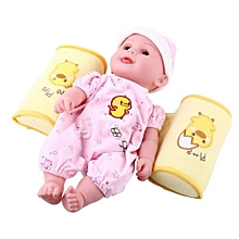 Adjustable Cartoon Baby Shaping Pillow Infant Safe Sleeping Positioner Cushion Yellow