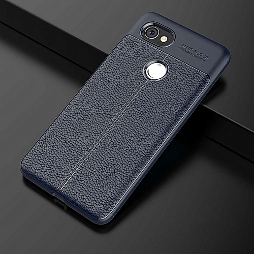 buy online efdc4 2f100 Phone Case For Google Pixel 2 XL Carbon Fiber Soft TPU Silicone Brushed  Anti-knock Back Cover For Google Pixel 2 XL Case 215250 (Blue)