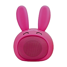 BUNNY -Pink Promate Kids Bluetooth Speaker, Portable Wireless Bluetooth V4.1 Speaker with HD Sound Quality, Hands-free call function and Cute Bunny Design for Bluetooth Enabled Devices