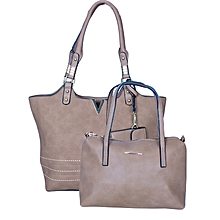 3 In 1 Beige Hand Bag