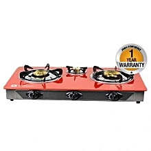 SB-308 - Tampered Glass Gas Table Cooker - Red