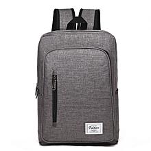 Backpack Laptop Bag Pack Travel Vintage Teenage College Double Shoulder School Pure-gray
