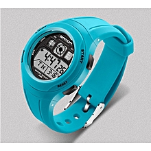 Sky Blue Students Wristwatch with Alarm Date Chronograph LED Back Light Waterproof Sports watch