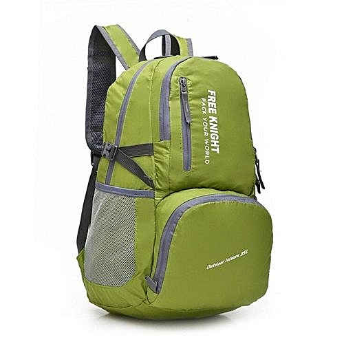 Fashion Free Knight 35L Large Capacity Ultralight Waterproof Nylon Foldable Outdoor Travel Bag Mountaineering Backpack Climbing Bags(Green)