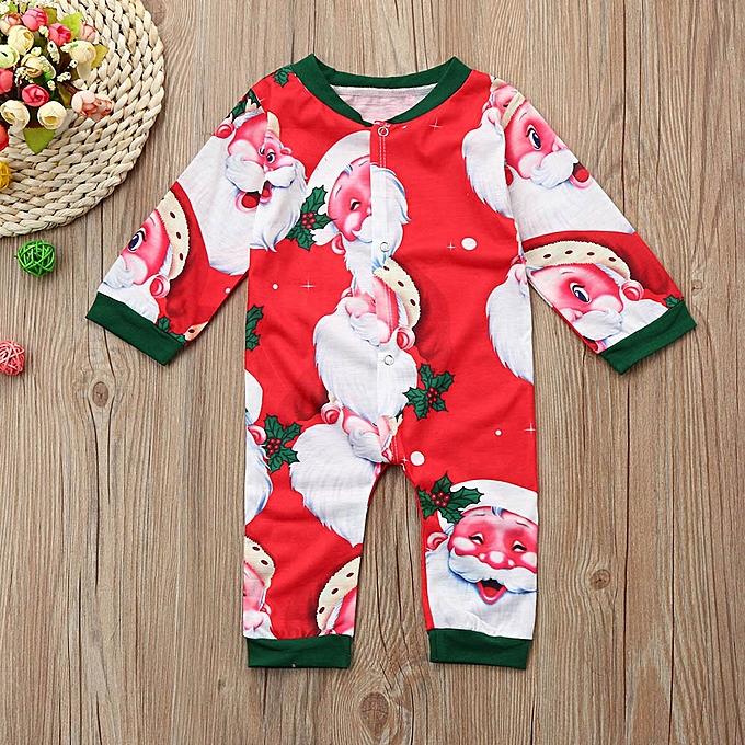 Buy Muyi Newborn Kids Baby Boys Girl Christmas Clothes Santa Print