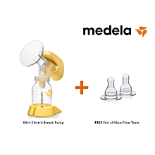 Mini Electric Breast Pump - comes with Free Pair of Teats