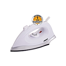 AIR-2BDS -1000W Dry Iron with Spray - Teflon Sole Plate- White