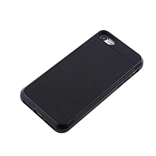 reputable site 8406d 5cd6a Slim Card Holder Slot Hard Phone Case For IPhone7 Black
