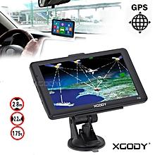 "7"" Car Truck Capacitive Touchscreen GPS Navigation 8GB Navigator NAV w/ Free Map"