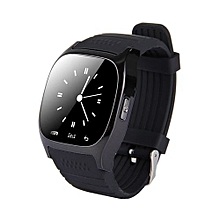 Stylish  Smart Watch With Pedometer & Sleeping Monitor & Calculator & Call Reminder & SMS / Wechat Alerts Function(Black)