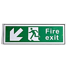 300x100mm Waterproof Emergency Fire Exit Sign Decal Sticker All Direction Arrows